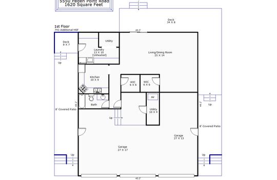 12188 – 5550 Peden Point Road-1st Floor