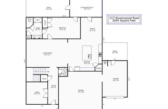 12206 – 217 Ravenswood Road-1st Floor