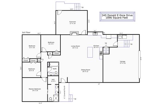 12267 – 345 Donald E Gore Drive-1st Floor