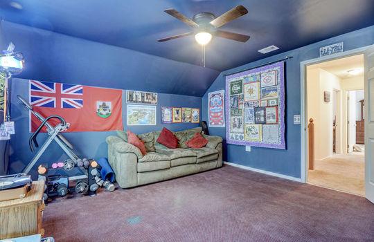Finished Room Over the Garage/Bonus Room