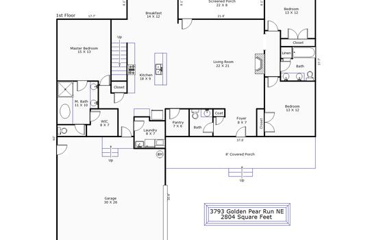 13317 – 3793 Golden Pear Run NE-1st Floor