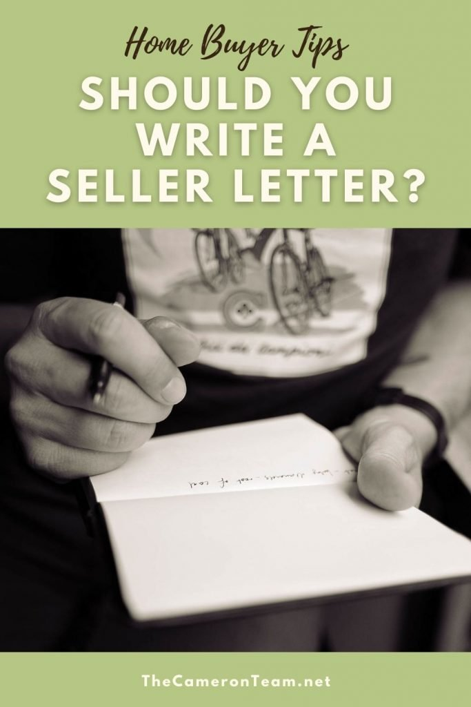 """Man writing letter and """"Should You Write a Seller Letter"""""""