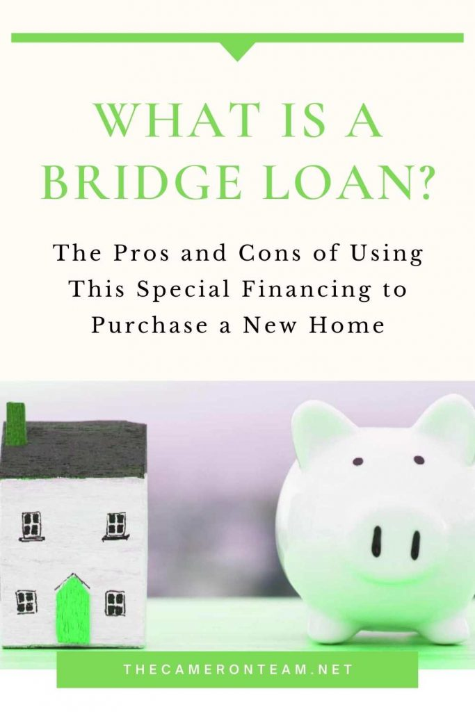 """house and piggy bank with """"What is a Bridge Loan?"""""""