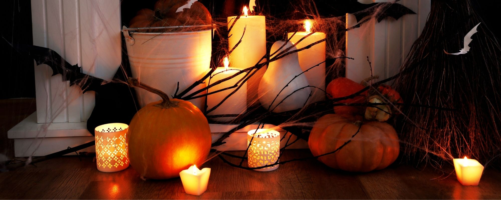 How to Make Your Fireplace Mantel Spooktacular