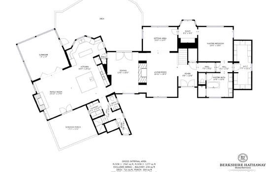 Main Level Floor Plan - 108 Gorge Trail Cashiers NC