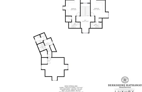 Upper Level Floorplan - 108 Gorge Trail Cashiers NC