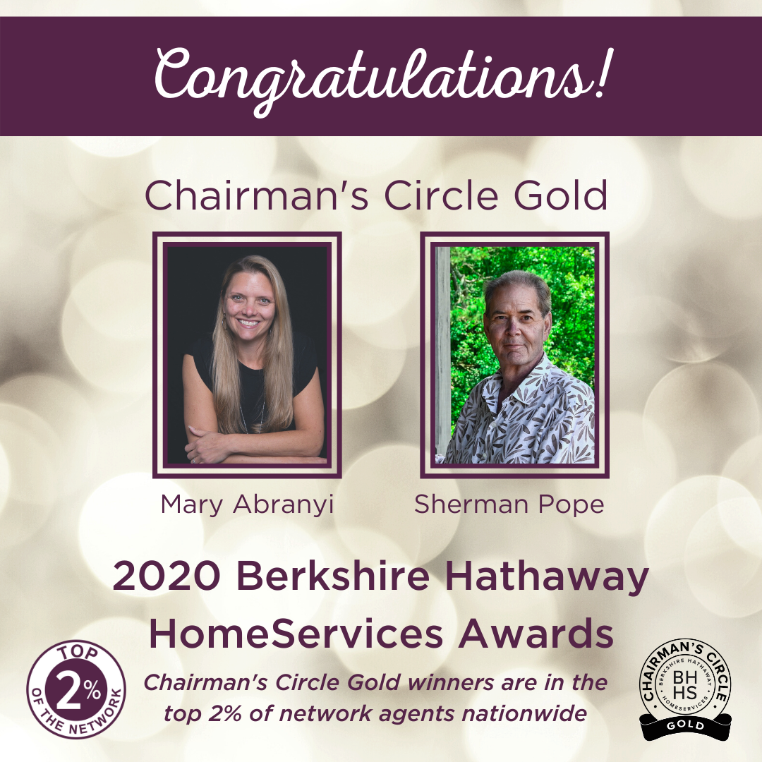 BHHS Chairman's Circle Gold Award for 2020
