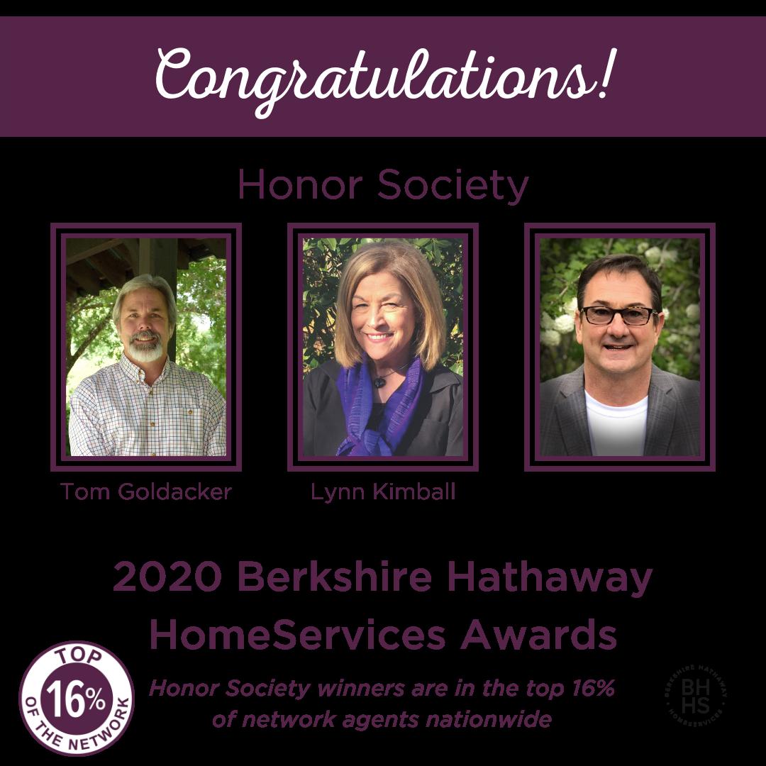 BHHS Honor Society Award for 2020