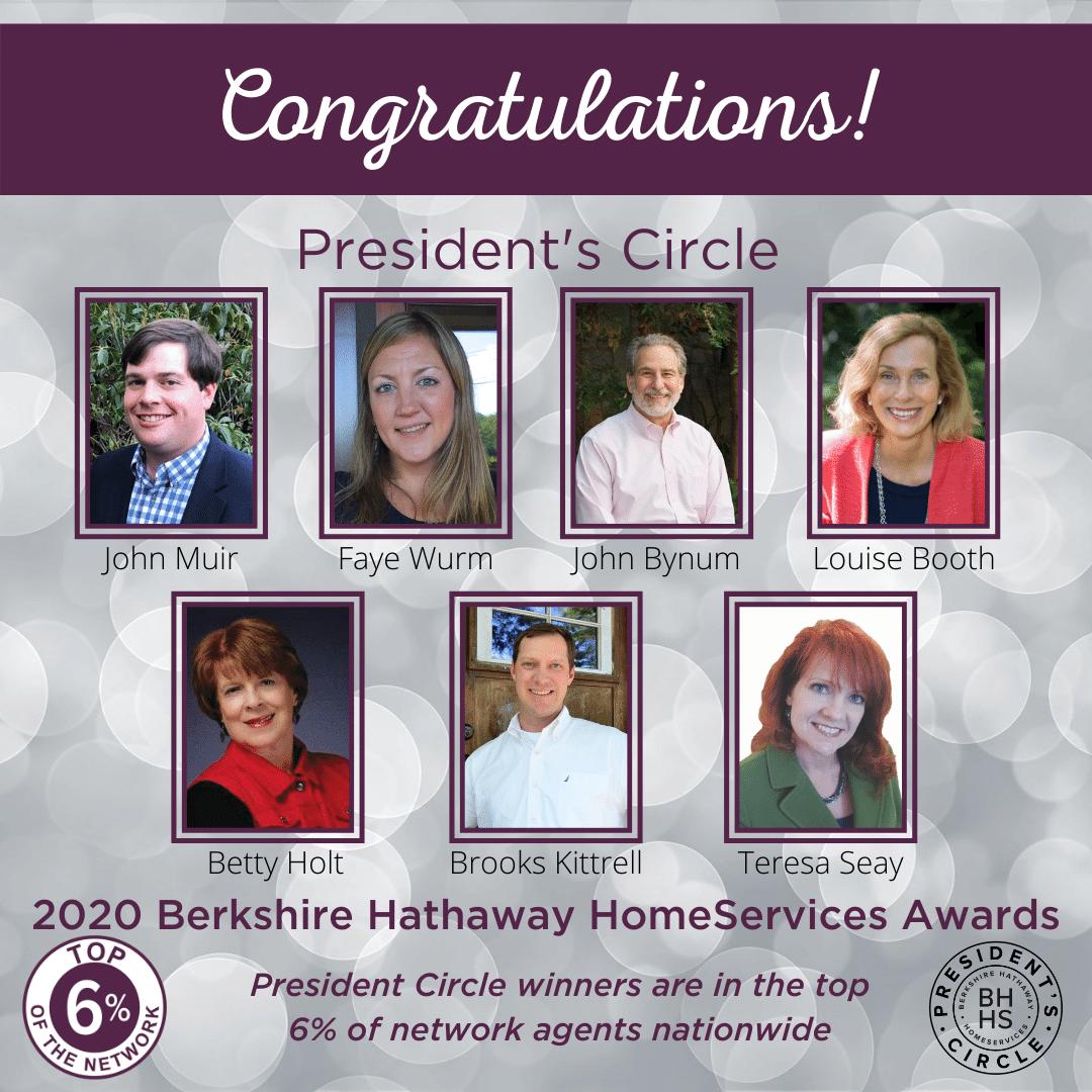 BHHS President's Circle Award for 2020