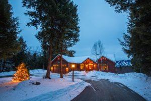 House on Powder Ridge at twilight