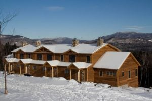 Tempest Ridge Townhomes with snow