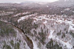Aerial view of Peaks Village