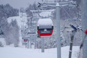 Chondola after fresh snow