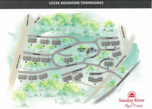 Lot map for Locke Mountain Townhomes