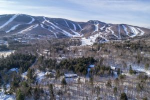 Aerial view of Sunday River Village and the resort