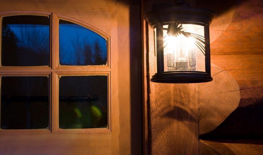 Outdoor light next to front door