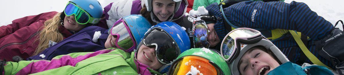 Kids enjoying snow