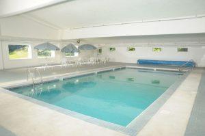 Pool inside condo complex