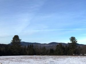 Mountain views from Otter Brook in winter