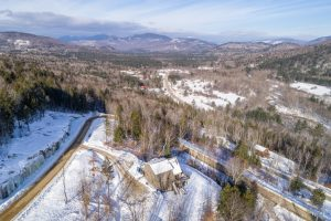 Home on Locke SUmmit with aerial view of road