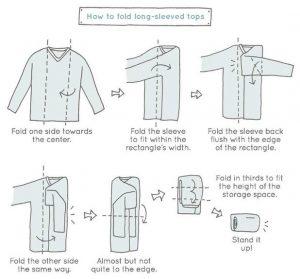 Marie Kondo Method for folding shirts