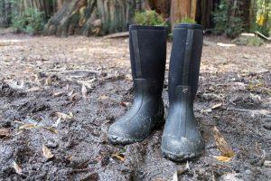 Rain boots in mud