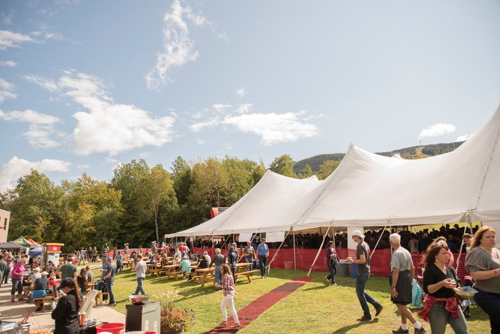 Festival goers at the Maine Brew Fest