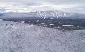 Aerial view of Sunday River from the Peaks