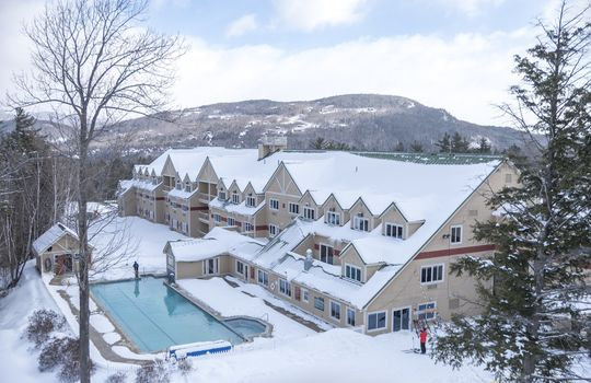 Ski-in/ski-out access and slopeside pool