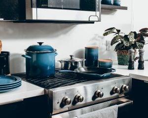 blue kitchenwear