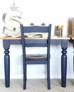 Blue Reclaimed Kitchen Table