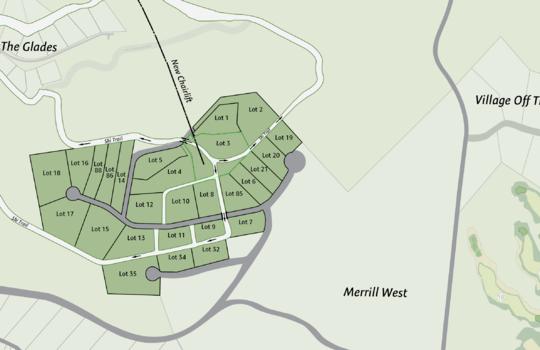 Merrill Hill Lot map