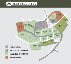 Merrill Hill Lot map colored