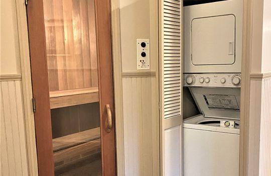 sauna and laundry