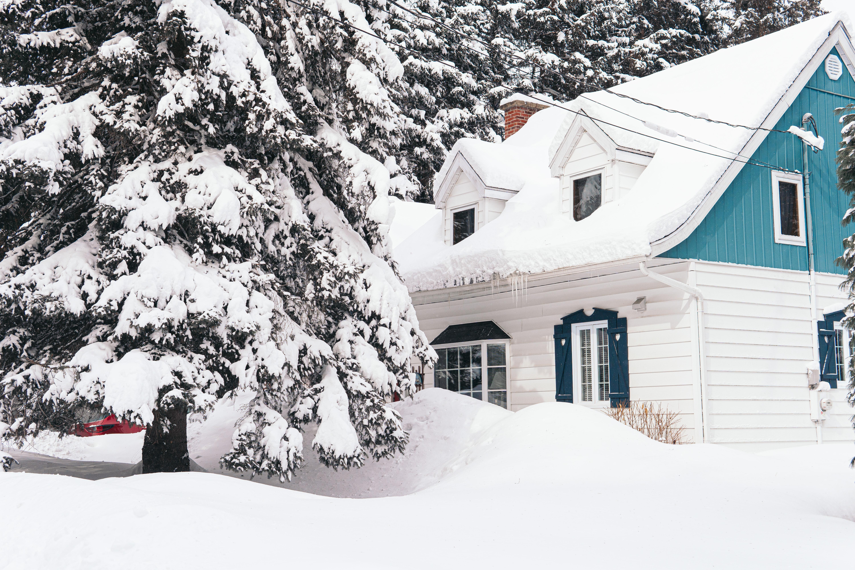 Snowy house in winter