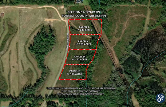 Aerial Map BCDE